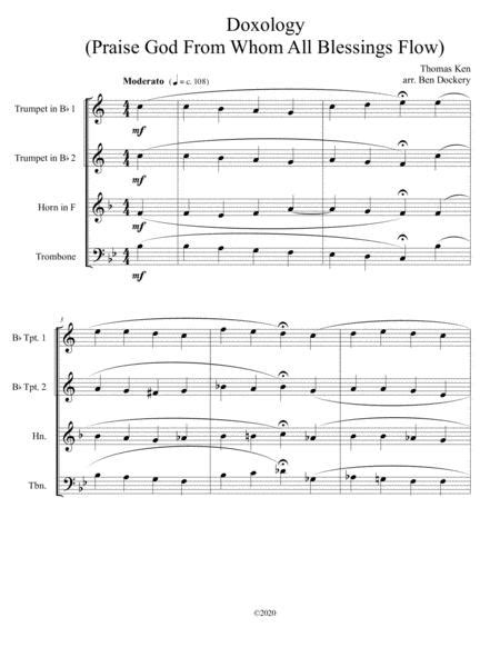 Doxology Jazz Harmonization For Piano Quartet Praise God From Whom All Blessings Flow  music sheet