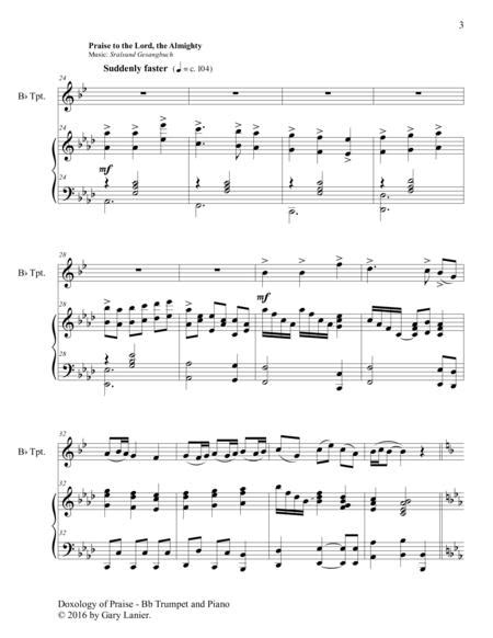 Doxology Of Praise Duet Bassoon Piano With Parts  music sheet