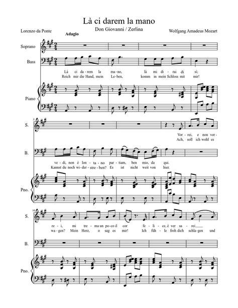 Duetto La Ci Darem La Mano  music sheet
