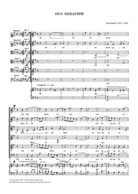 Duo Seraphim  music sheet