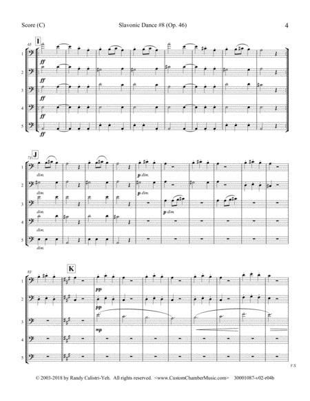 Dvorak Slavonic Dance 8 Clarinet Quintet Or Bassoon Quintet  music sheet