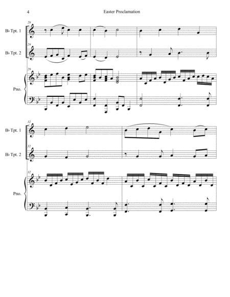 Easter Proclamation The Risen Christ Duet For Bb Trumpet  music sheet