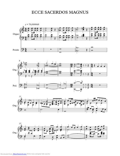 Ecce Sacerdos Magnus music sheet