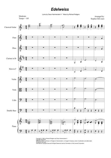 Edelweiss String Quartet  music sheet