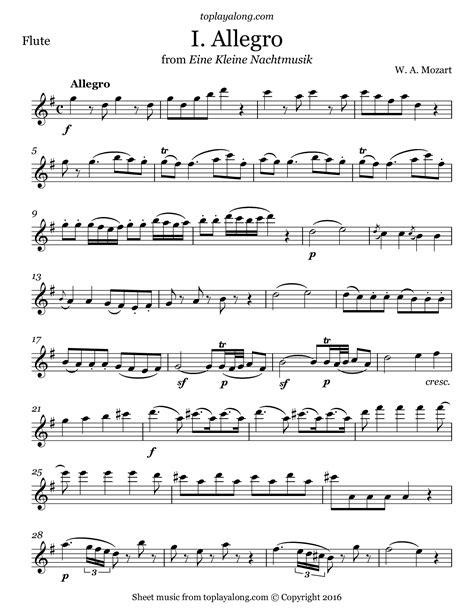 Eine Kleine Nachtmusik For Flute And Violin  music sheet
