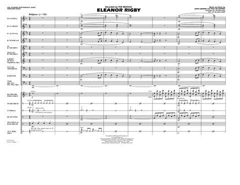 Eleanor Rigby Arr Jay Bocook Full Score  music sheet