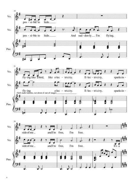 Electricity From The Billy Elliot Vocal Duet  music sheet