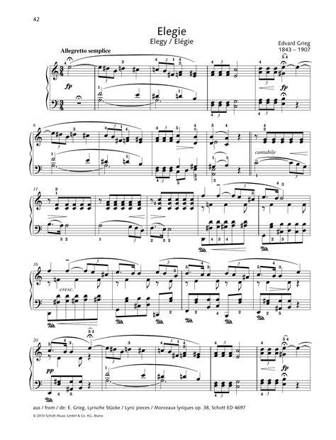 Elegy  music sheet
