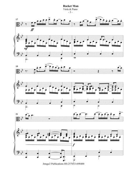 Elton John Rocket Man For Viola Piano  music sheet