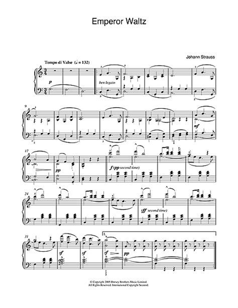 Emperor Waltz Johann Strauss Jr For Trumpet Piano  music sheet