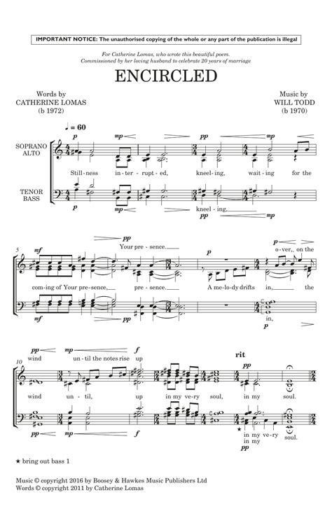 Encircled A Sacred Hymn  music sheet