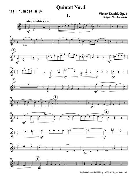 Ewald Quintet No 2 For Brass Instruments  music sheet