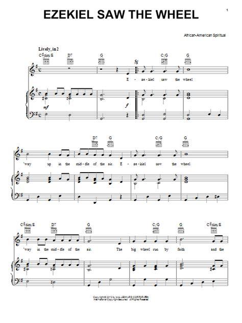 Ezekiels Wheel  music sheet