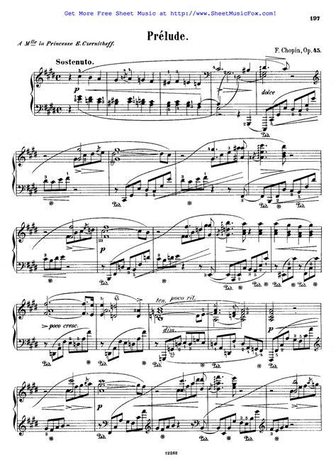 F Chopin Prelude In C Sharp Minor Op 45  music sheet