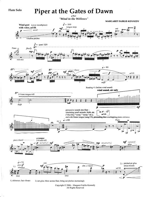 Fairlie Kennedy Piper At The Gates Of Dawn  music sheet