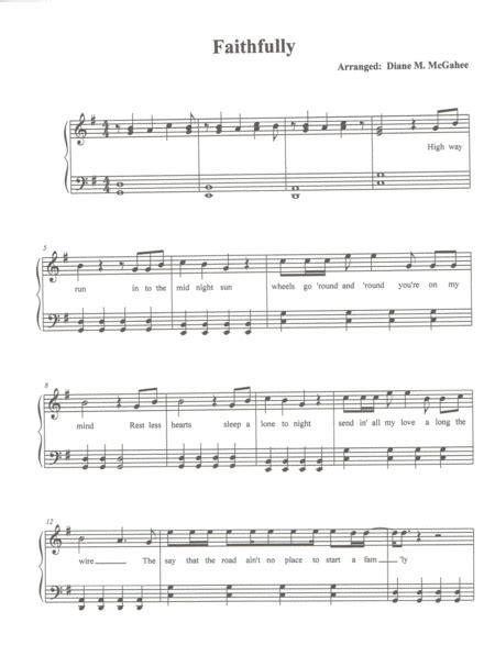 Faithfully Level 2  music sheet