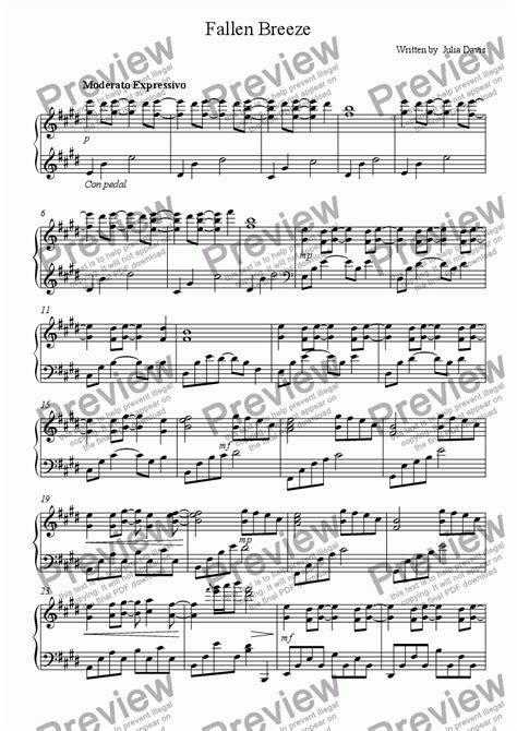 fallen breeze music sheet