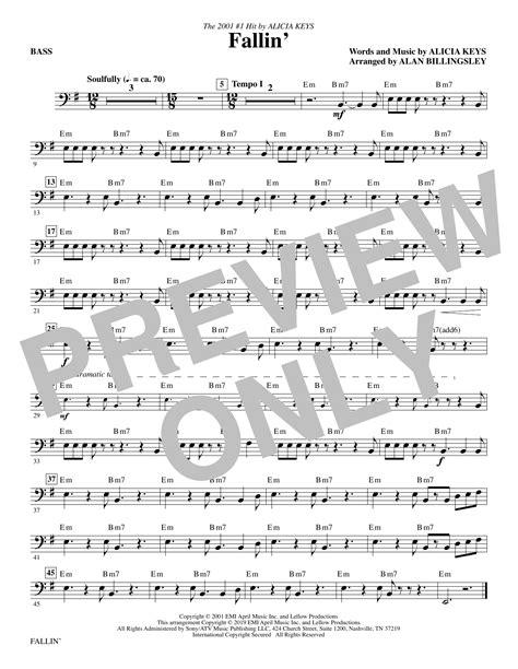 Fallin Arr Alan Billingsley  music sheet