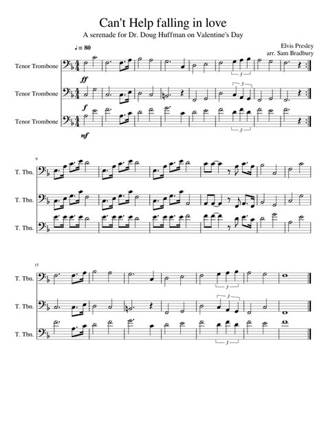 Falling In Love With Love Full Score Parts  music sheet