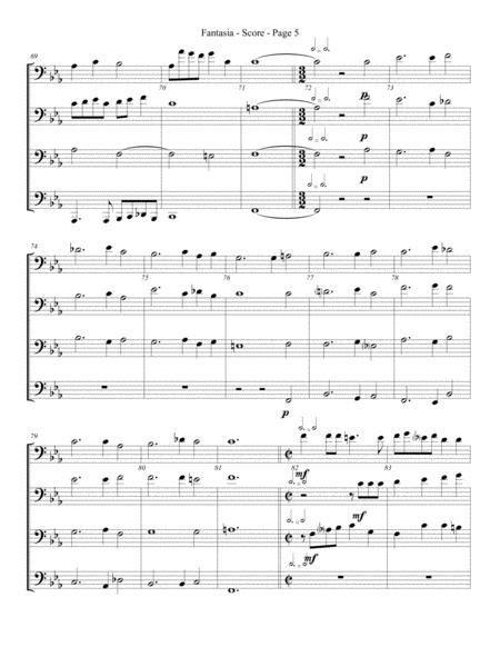 Fantasia For Trombone Or Low Brass Quartet  music sheet