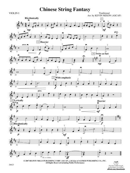 Fantasy On A Chinese Theme  music sheet