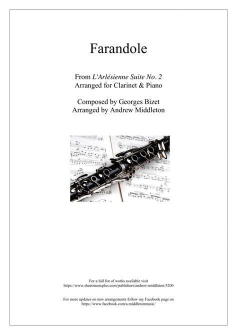 Farandole Arranged For Clarinet And Piano  music sheet