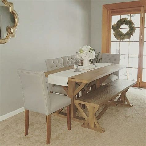 farmhouse table and bench Target