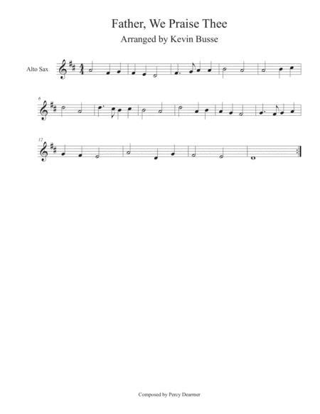 Father We Praise Thee Tenor Sax  music sheet