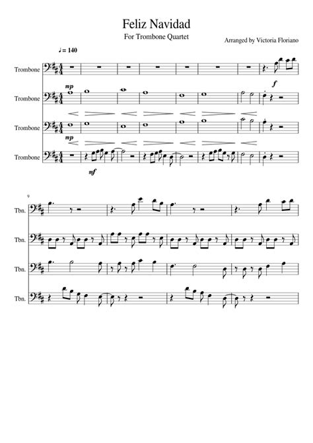 Feliz Navidad Chicago Full Score Set Of Parts  music sheet