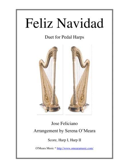 Feliz Navidad For Pedal Harp Score Parts  music sheet