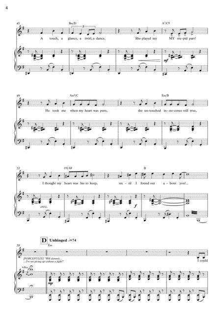 Fifty Ways To Kill My Lover Lover Solo From After It Rains A New Musical  music sheet