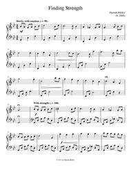 finding strength hannah baldoz music sheet