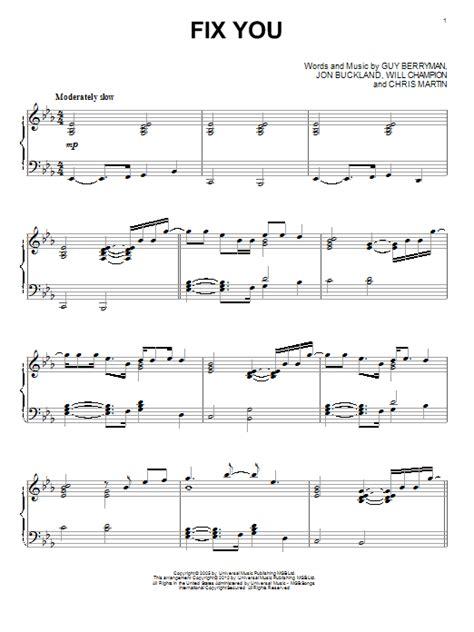 Fix You Organ Solo  music sheet