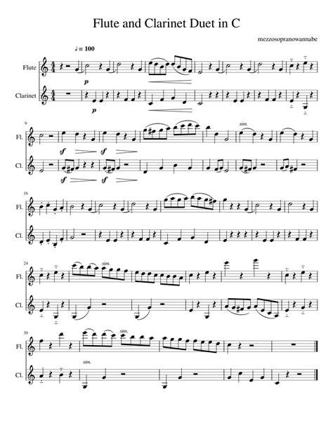 Flute Clarinet Duet 3 C Flute And Bb Clarinet  music sheet