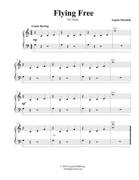 Flying Free Elementary Piano Solo  music sheet