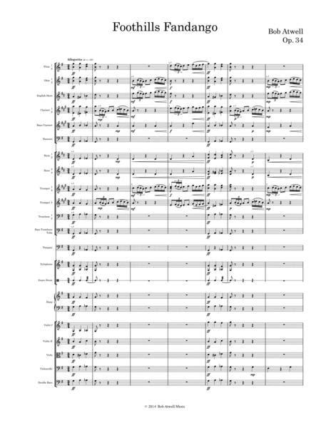 Foothills Fandango  music sheet