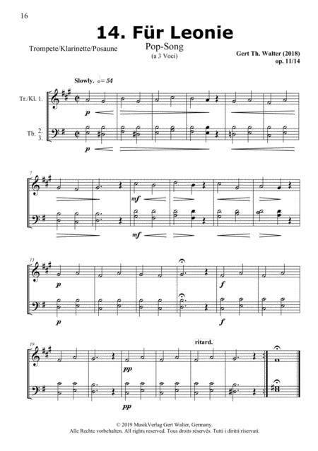 For Leonie From Woodwind Pop Romanticists  music sheet