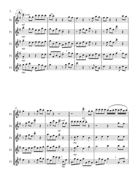 For Unto Us A Child Is Born From Messiah G Flute Quintet  music sheet