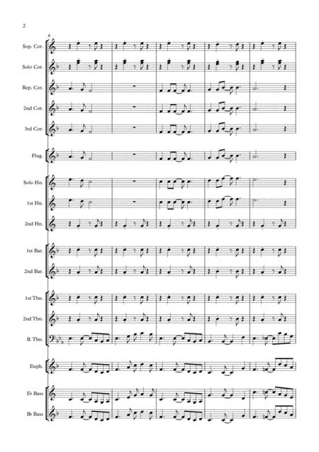 Forget You Brass Band March Card  music sheet