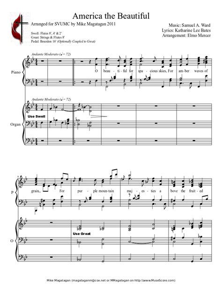 Four Pieces For Organ Pedal Duet  music sheet