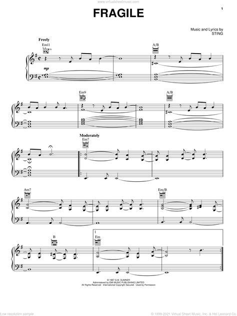 Fragile Sting For Guitar  music sheet