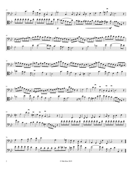 Franz Simandl Tude No 4 For Two Double Basses  music sheet