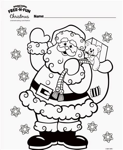 free Christmas coloring pages Free N Fun Christmas