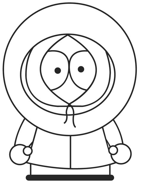 free coloring pages Kenny from South Park coloring pages