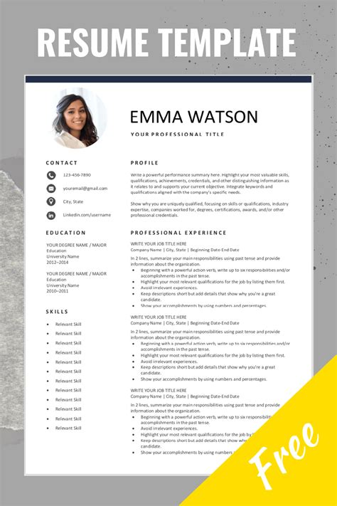 free resume templates resume examples samples CV