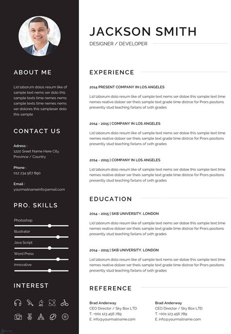 freecvtemplate Resume templates in Word format