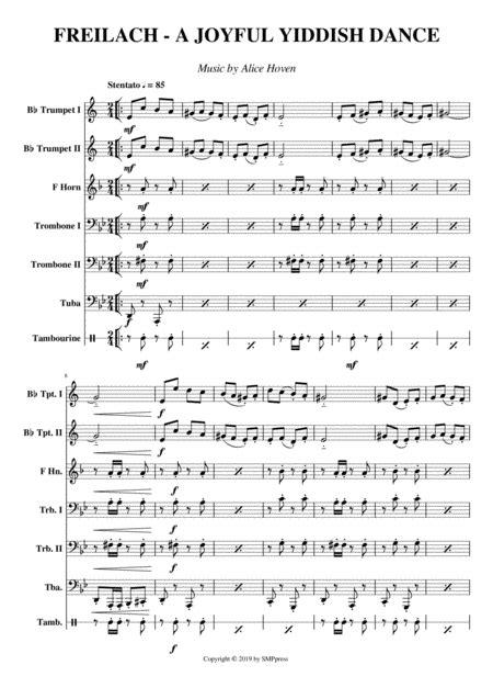 Freilach A Joyful Yiddish Dance  music sheet