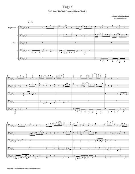 Fugue 03 From Well Tempered Clavier Book 2 Bassoon Quintet  music sheet