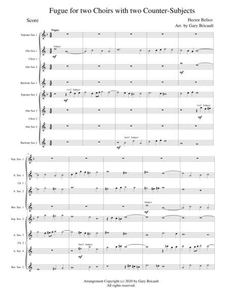 Fugue In Eight Parts For Two Choirs  music sheet