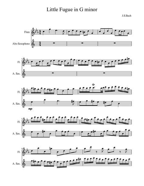 Fugue In Gm music sheet